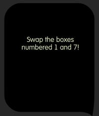 Tricky Test Swap 2 boxes to make the sum of numbers the same in every row